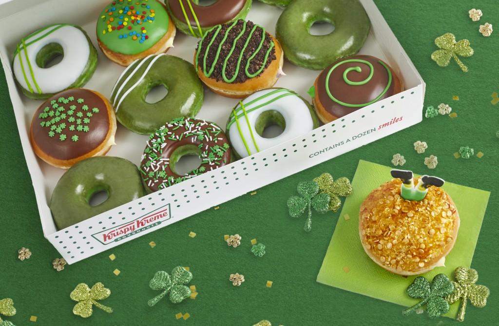 Krispy Kreme Is Turning All Doughnuts Green To Celebrate St. Patrick's Day