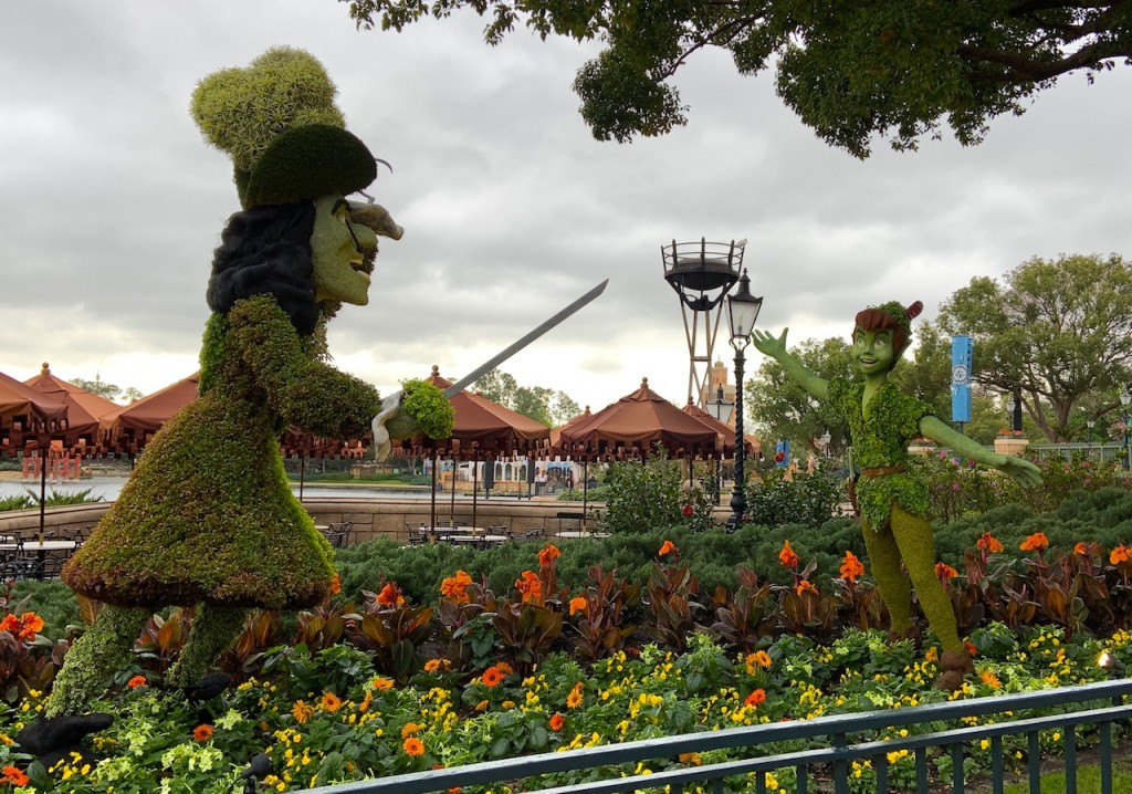 Captain Hook And Peter Pan Topiaries F&g