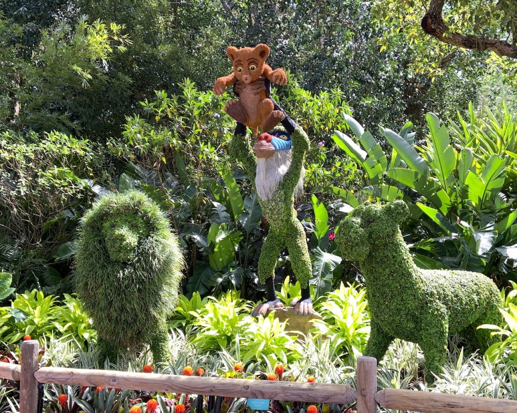 Lion King Topiaries