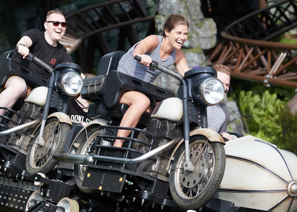 Publicity Hagrid Grand Opening Moment 061319 Hogsmeade Hagrid's Magical Creatures Motorbike Adventure
