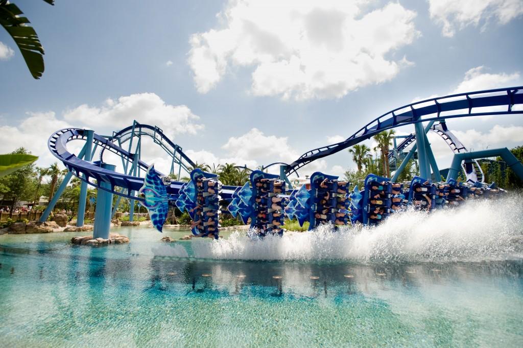 Manta Dips A Wing At Seaworld Orlando 2