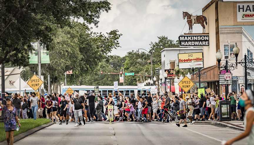 Black Lives Matter March In Kissimmee, Florida