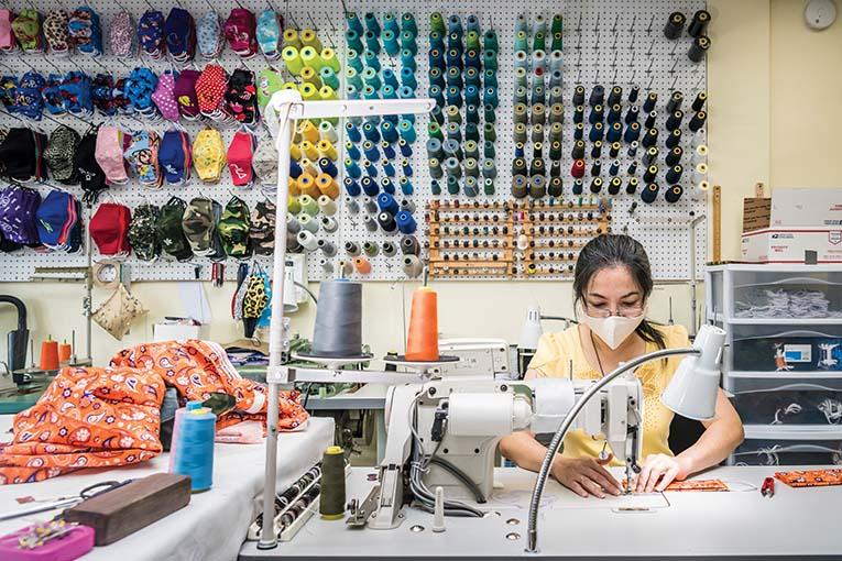 Dawn Vo of Dawn's Alterations spends more time these days making face masks of all sizes, shapes and designs.