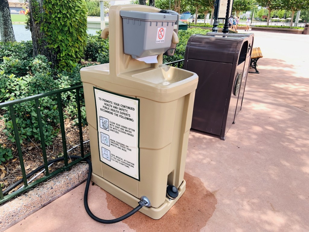 2020 Epcot Hand Sink