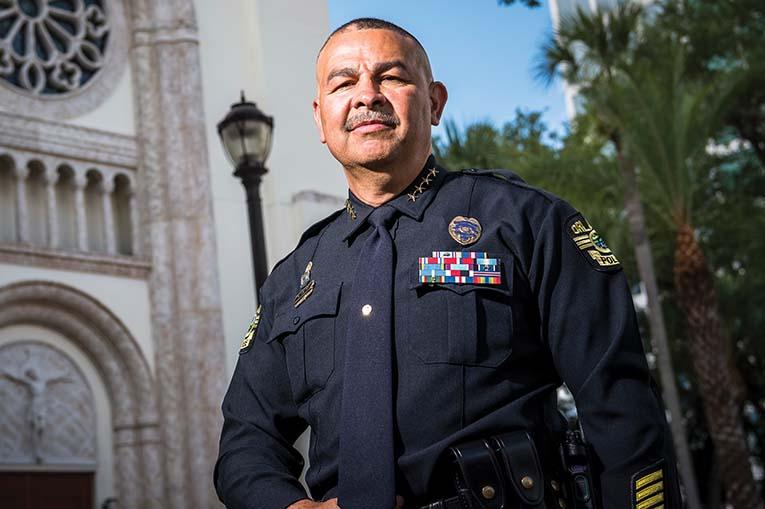 Orlando Police Department Chief Orlando Rolon, Photo By Roberto Gonzalez