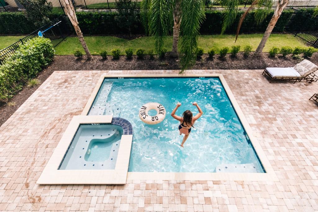 Media Encore Resort Reunion Home Pool Jump Tube Aerial 1
