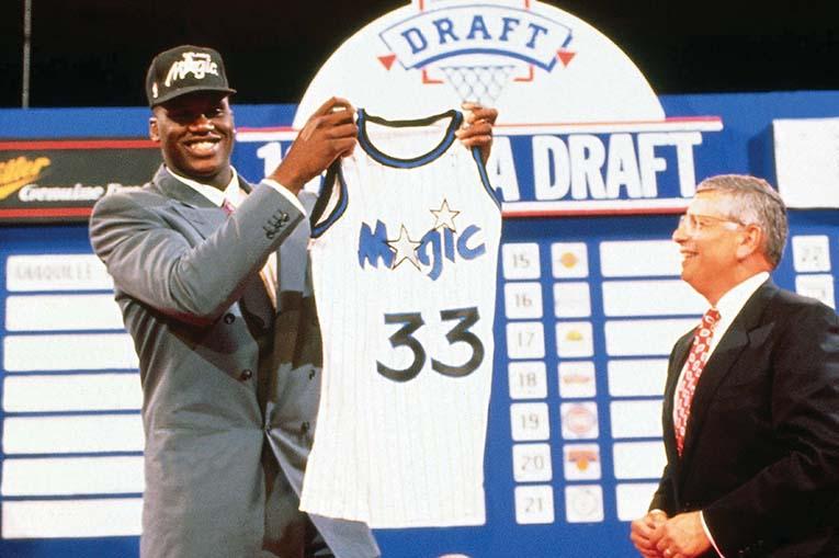 1991 Nba Draft Orlando Magic First Round Draft Choice Shaquille O'neal