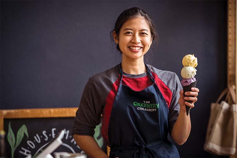 Marie Mercado Of The Grenery Creamery, Photo By Roberto Gonzalez