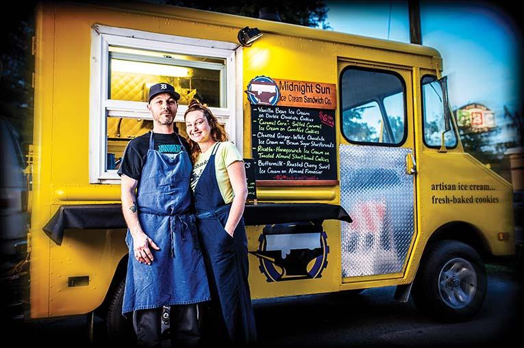 Levi And Jocelyn Stewart Of Midnight Sun Ice Cream Sandwich Co.,