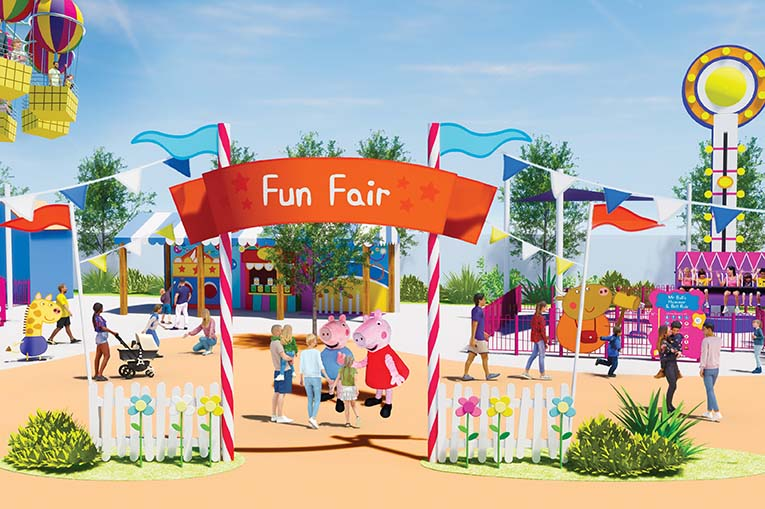 Rendering Fun Fair Peppa Pig Theme Park At Legoland Florida Resort