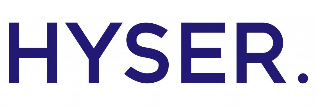 Hyser Logo Blue White