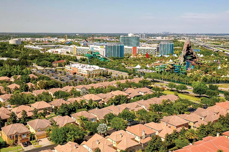 Universal Studios Visible From Dr. Phillips, Photo By Roberto Gonzalez
